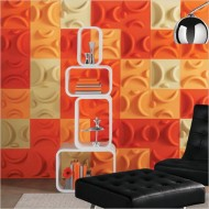 Bold Orange + White Wall