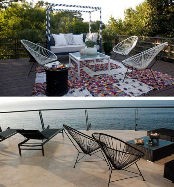 acapulco chair outdoors inmod style. Black Bedroom Furniture Sets. Home Design Ideas