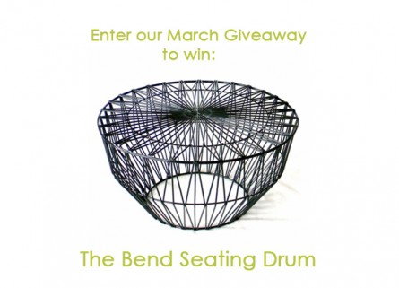 March Giveaway: The Bend Seating Drum