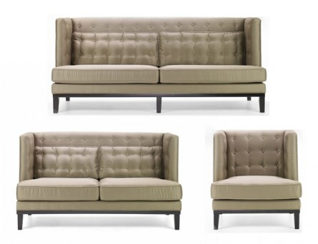 A Satiny Sofa Set