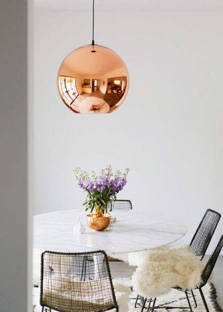Copper & Marble Dining (Get The Look)