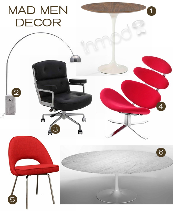 Mad men decor at inmod inmod style for In mod furniture