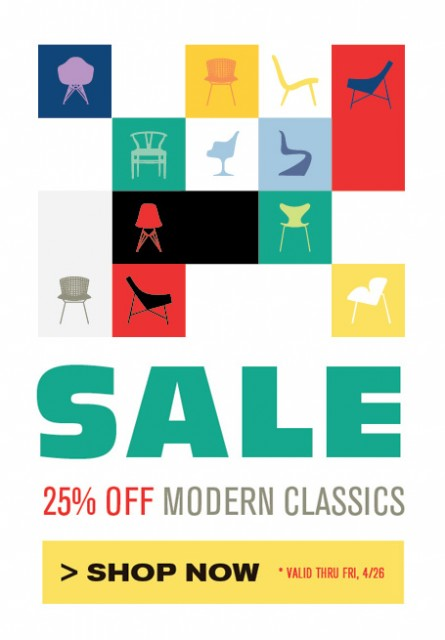 SALE – SAVE 25% ON MODERN CLASSICS