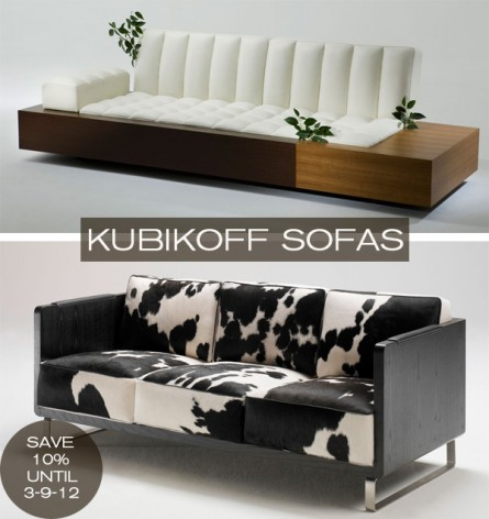 Sofas from the Kubikoff Collection