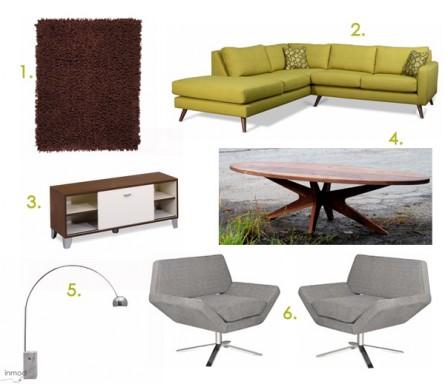 A Mid-Century Mod Living Room