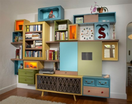 Unique & Colorful Mid-Century Storage