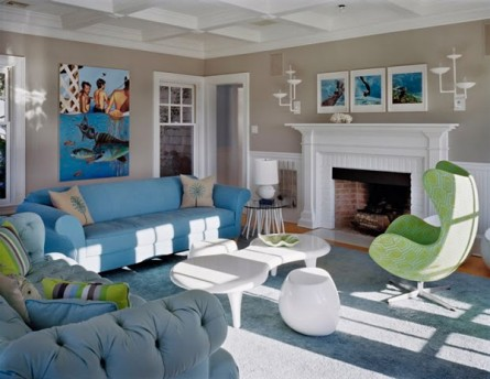 Beach Home with Mid-Century Accents