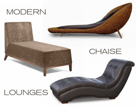 Modern chaise lounge inmod style for In mod furniture