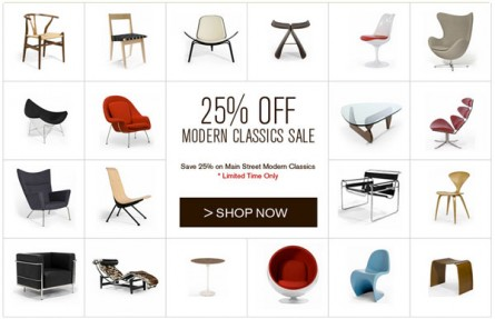 Sale on Main Street Modern Classics