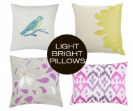 Bright Pillows for Spring