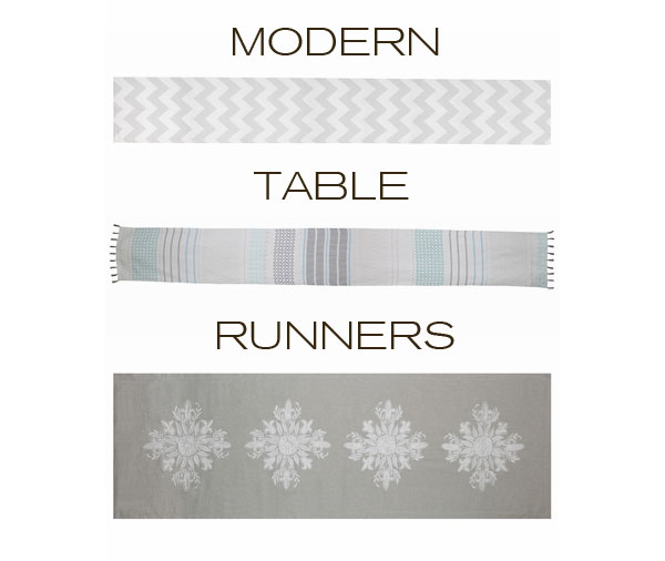 Your less Settings  Spruce Holiday runners table Table for Up