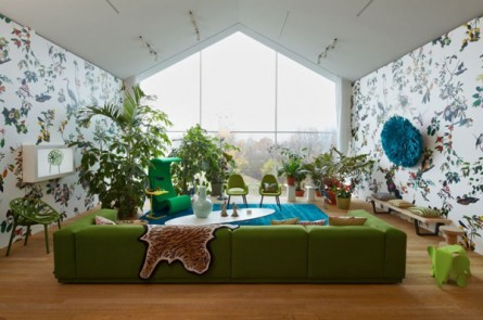 Green & Eclectic Mid-Century Modern Living