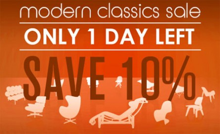 Last day to save 10% on modern classics!