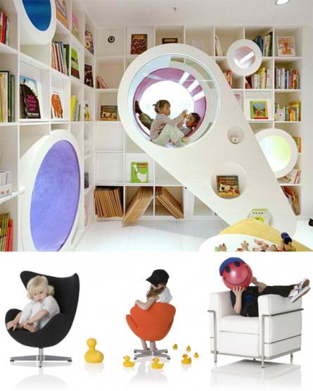 For the Kiddies: Modern Play Nook + Cubbies