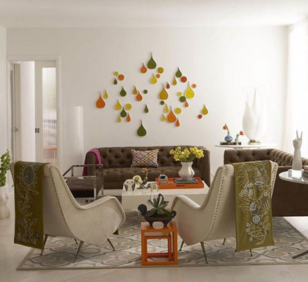 Orange Sparks in Retro Decor