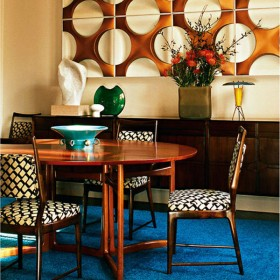 Patterned Upholstery in the Dining Room