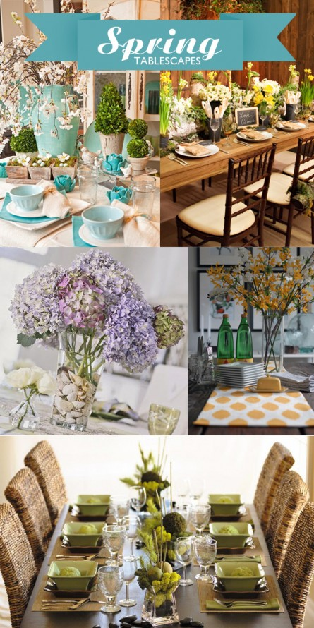 Decorate the Table for Spring