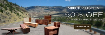 Structured Green Furniture – 50% Off!