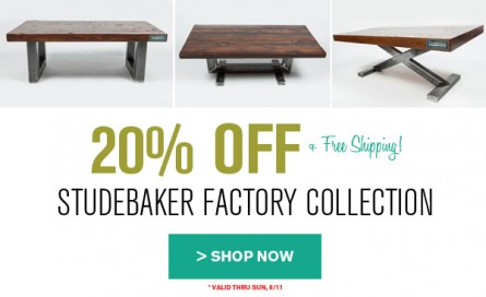 20% OFF Studebaker Factory Collection!