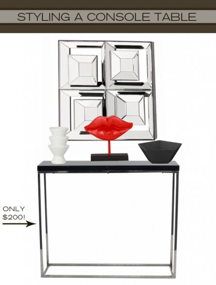 Styling a Modern Console Table