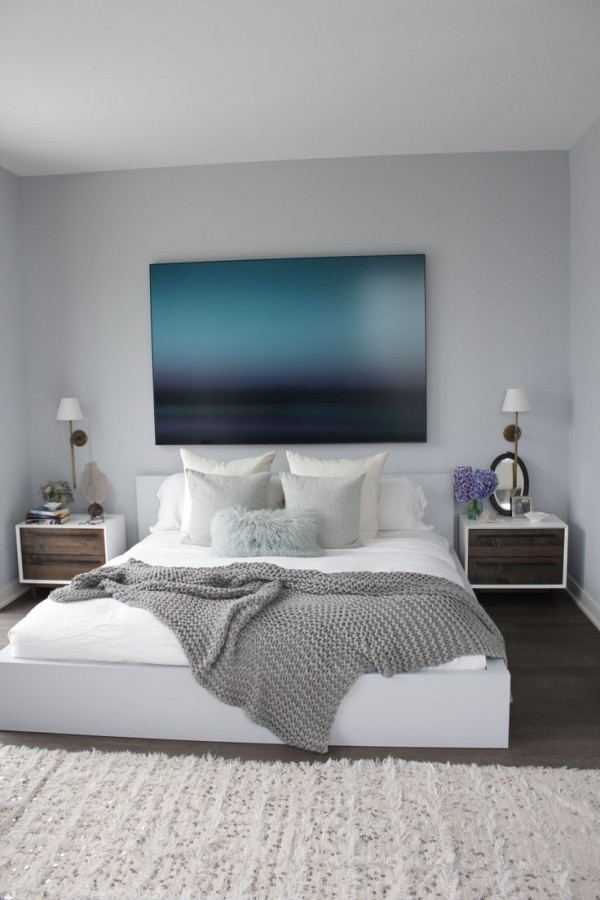 Cozy & Clean Ocean Blue Bedroom (Get The Look)