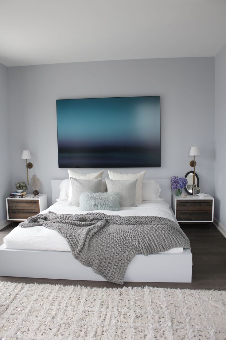 Cozy clean ocean blue bedroom get the look inmod style for In mod furniture