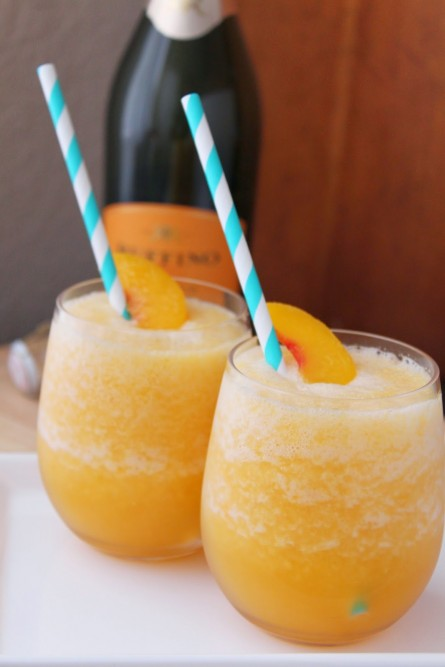 Frozen Peach Bellini Recipe- Cheers!