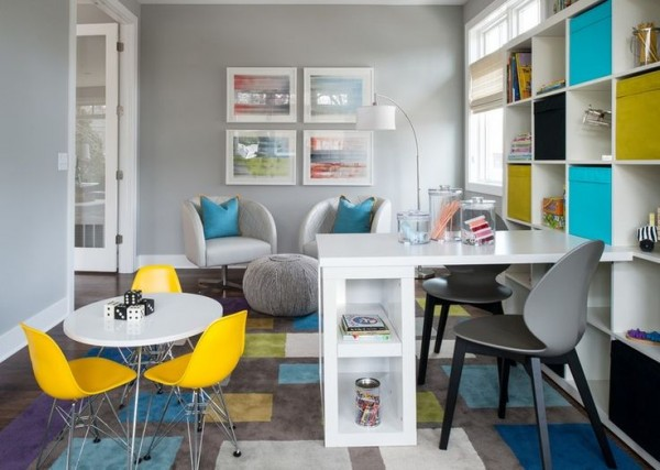 Multi-Functional Room w/ Pops Of Color!