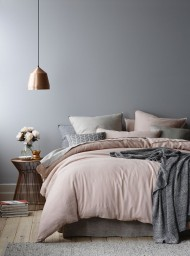 Pink, Grey & Copper Bedroom