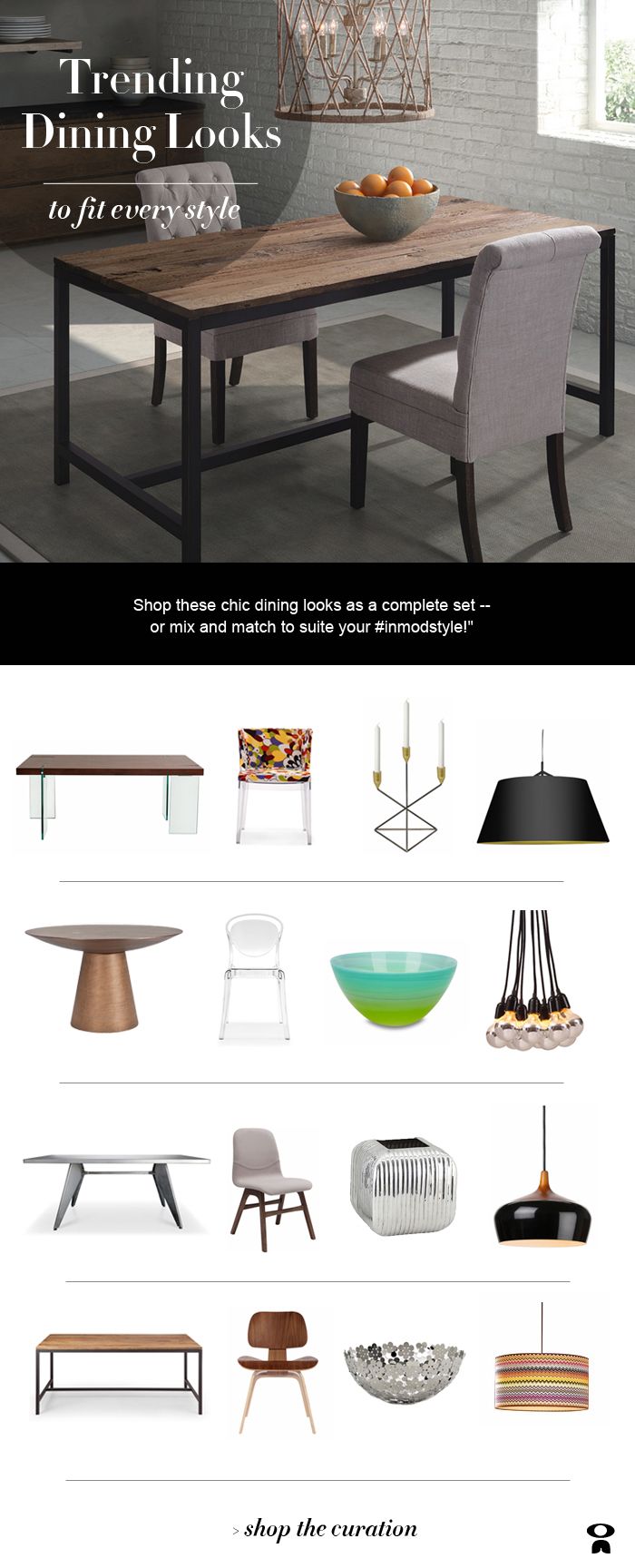 Shop Trending Dining Looks at Inmod