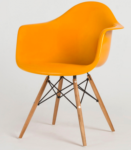 Classic of the Week: Molded Fiberglass Arm Chair with Wood Legs