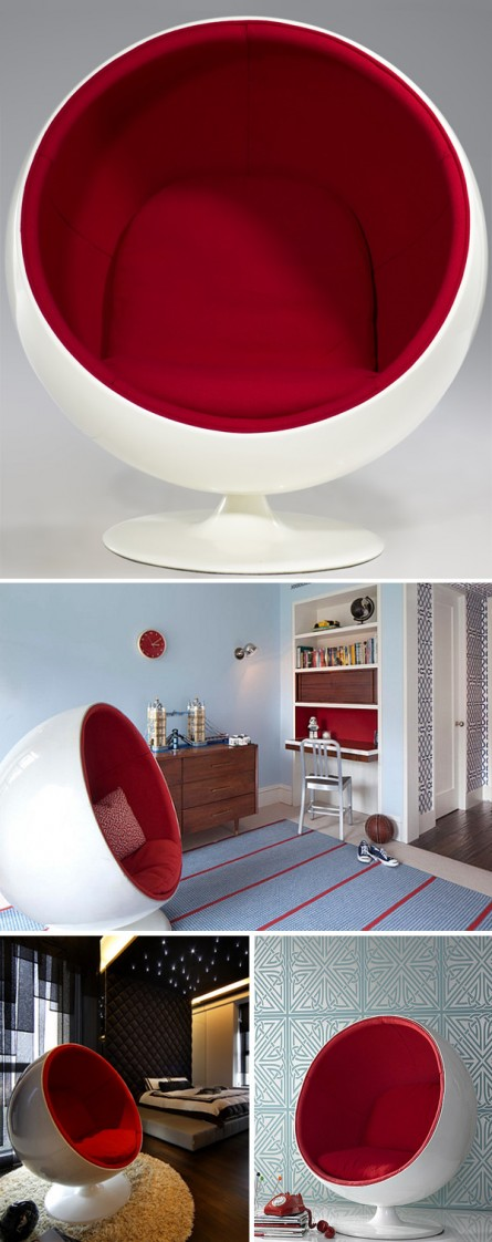 See it in Action: Eero Aarnio Style Ball Chair