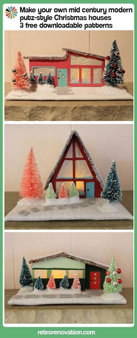 Mid-Century Modern Christmas Houses