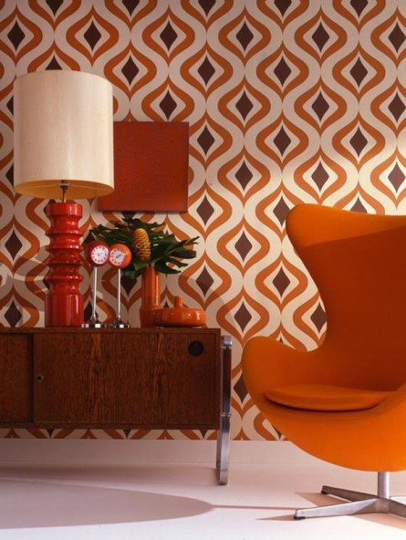 Accent Mid-Century Living with Patterns