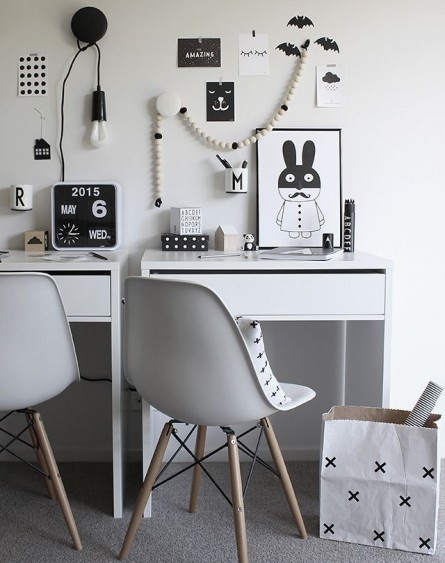 Get the look : black and white office